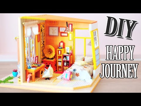 DIY Miniature Dollhouse Kit || Happy Journey - Miniature Land