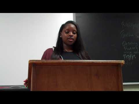 Kayla Dunlap- CCGA Speech One