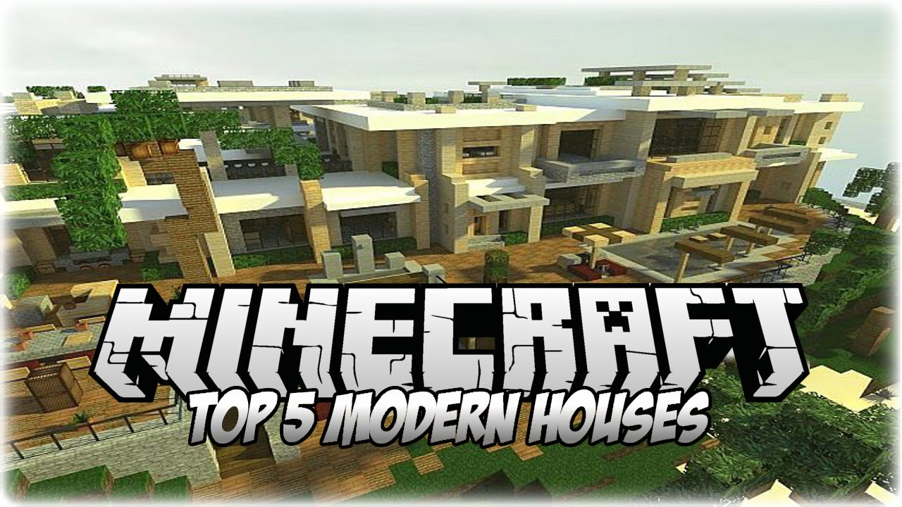 Top 5 insane minecraft modern houses 2014 1 youtube for Top 10 modern houses