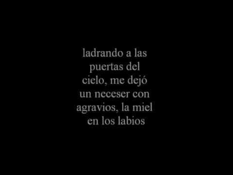 Joaquin Sabina letra de 19 dias y 500 noches