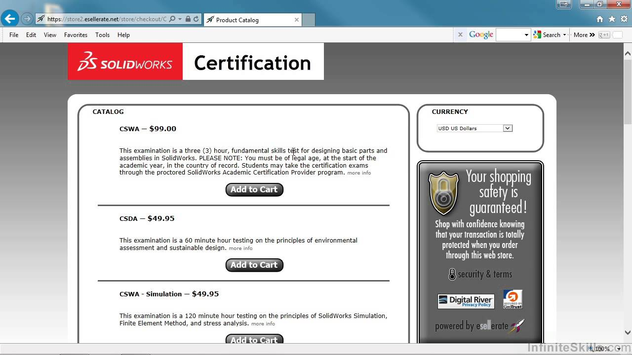 Certified Solidworks Associate Cswa Tutorial Purchasing The Exam