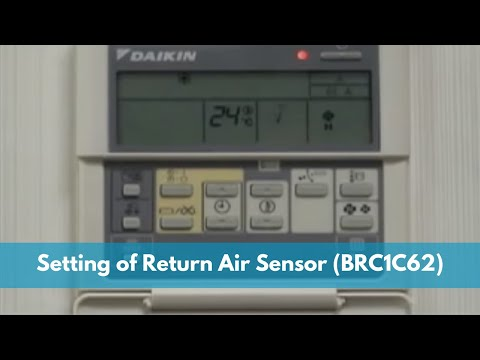 Setting of Return air sensor using wired remote control