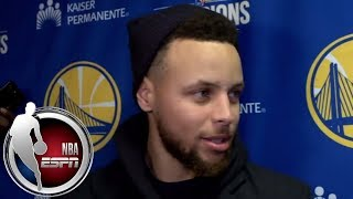 Stephen Curry jokes about his dunk vs. Cavs: