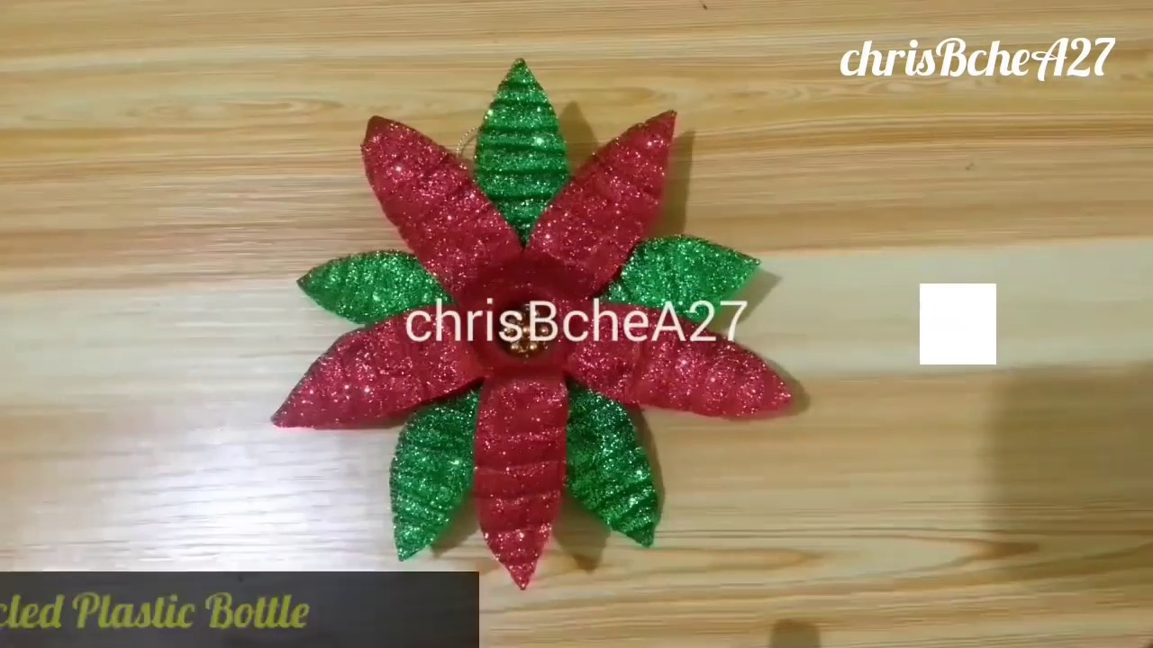 DIY 69 Poinsettia Made Of Recycled Plastic