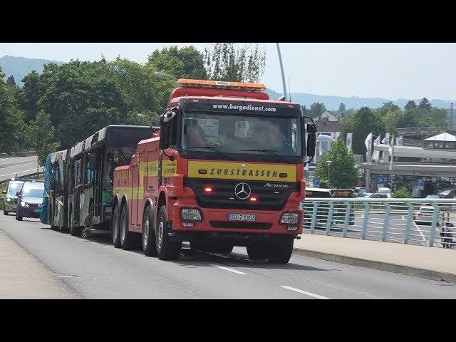 Bergefahrzeug mit Blaulicht Abschlepp- und Bergedienst Zurstrassen + Neuer FuStKW Vito Polizei Bonn