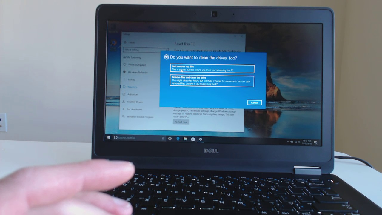 How to Restore and Clean Install Windows 10 on a Dell Latitude