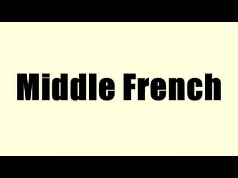 Middle French
