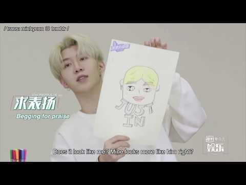 [ENG] 《偶像练习生》Idol Producer: Fan Chengcheng (范丞丞) and Justin (黄明昊) Drawing Challenge