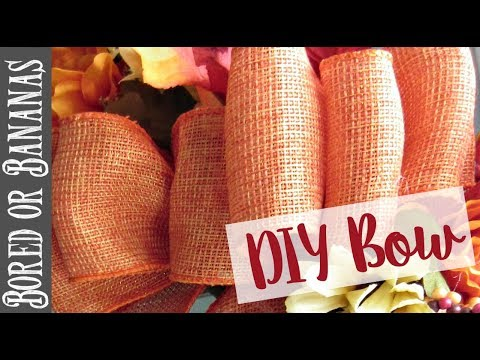how to make a decorative bow youtube. Black Bedroom Furniture Sets. Home Design Ideas
