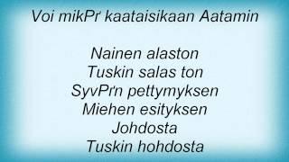 Eppu Normaali - Alaston Mies, Alaston Nainen Lyrics