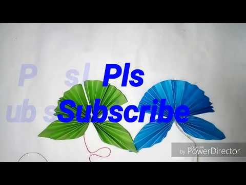how to make two paper diya 2ta pata Butterfly।। paper Butterfly toiri। kagojer Butterfly Banano।।