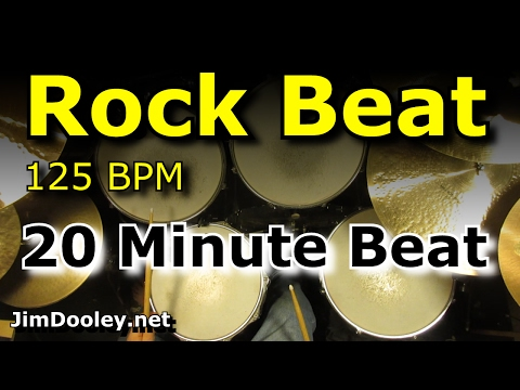 20 Minute Backing Track - Rock Beat 125 BPM