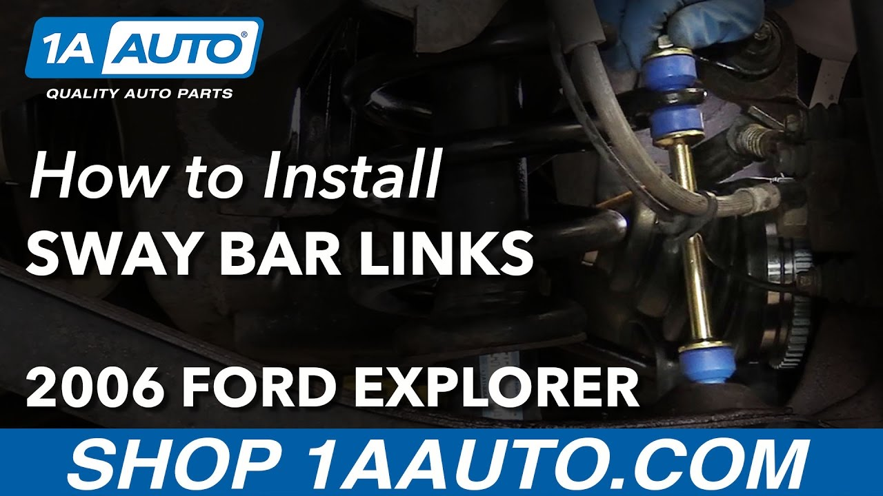 How to Replace Rear Sway Bar Links 0610 Ford Explorer  YouTube