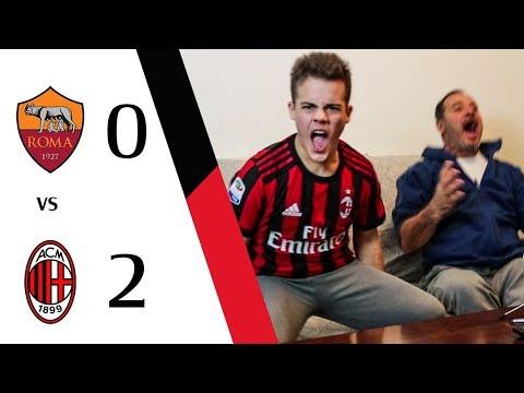 DISTRUTTI!!! - ROMA 0-2 MILAN | LIVE REACTION GOL HD