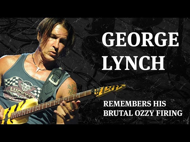 George Lynch Remembers His Brutal Ozzy Firing