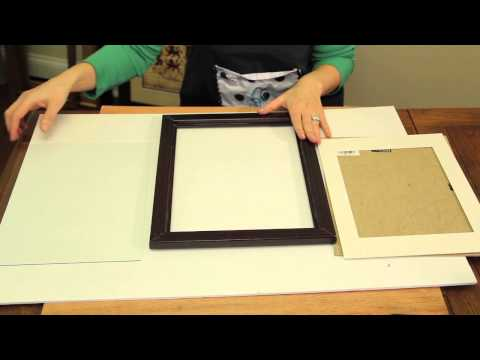 How to Put Replacement Glass in a Frame : Picture Frame Crafts