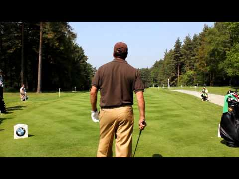 Jose Maria Olazabal tees off the 12th a couple of times!