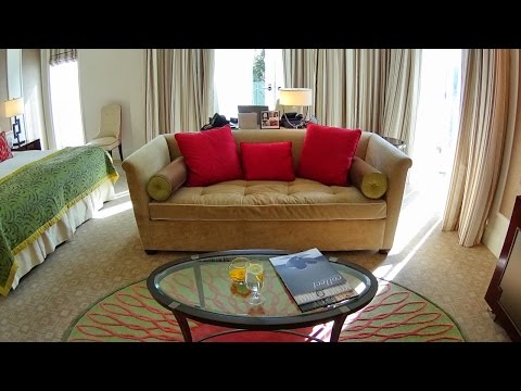 Beverly Hills Hotel luxury Deluxe Patio Guestroom tour