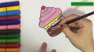 Capcuke Nasıl Çizilir ? Resim Çizme *How To Draw Cupcake?