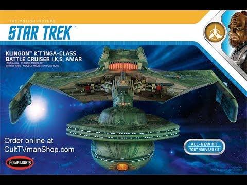 1/350 Polar Lights Star Trek Klingon  K'tinga model kit review