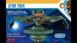 1/350 Polar Lights Star Trek Klingon  K'tinga model kit review
