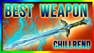 Skyrim Remastered BEST Weapon AT LEVEL ONE! Chillrend Sword Location (Special Edition Unique Weapons