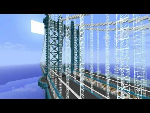 Manhattan Bridge - full-scale Minecraft build