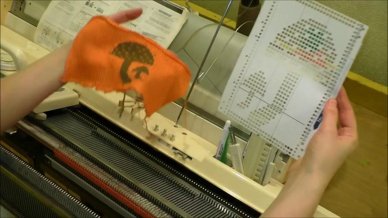 анонс мк вязальная машина Brother вязание орнамента по перфокартам
