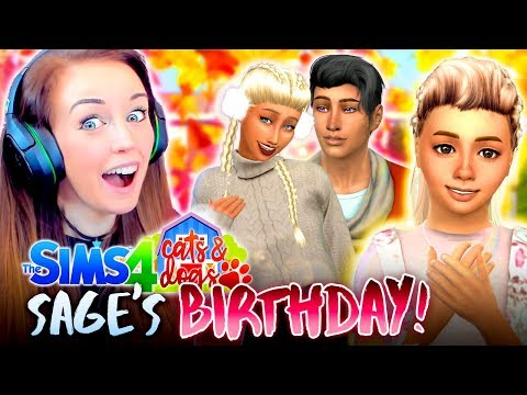 SAGE'S BIRTHDAY! 🎈 (The Sims 4 CATS & DOGS #36 🏖)