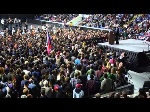 Bernie Sanders address Springfield Massachusetts rally Saturday afternoon