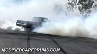 SOLID Supercharged C10 Chevy burnout at Murray Bridge Autofest 2010