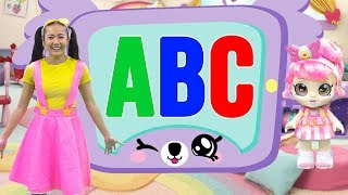 Learn ABC's in Swimming Pool with Kindi Kids and Ellie Sparkles