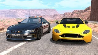 Crazy Police Chases #52 - BeamNG Drive Crashes