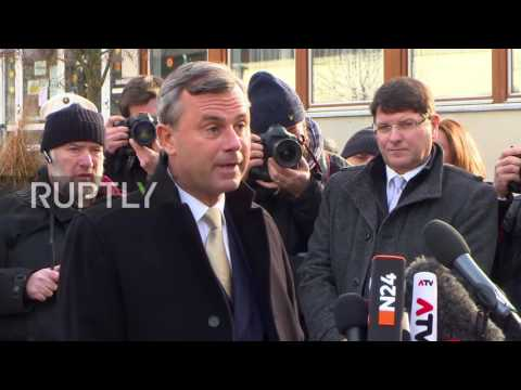Austria: FPO's Hofer casts his vote in presidential election re-run