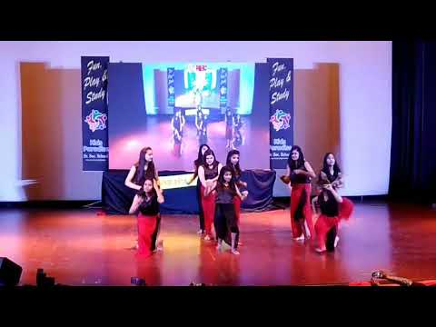 Hollywood dance by kids paradise school girls during annual function