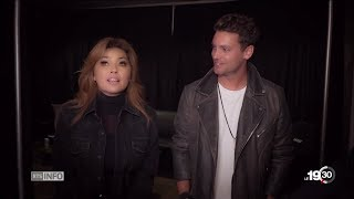 Shania Twain - Bastian Baker, Shania and Fred interviews on RTS Info (French) - May 24, 2018