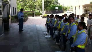 香川県建設業協会高松支部 昭和会道路清掃作業 出発式平成23年8月10日