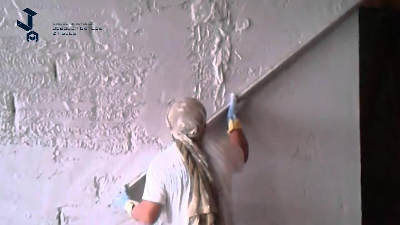 Proyecci n de yeso sobre paredes de block youtube - Yeso para paredes ...