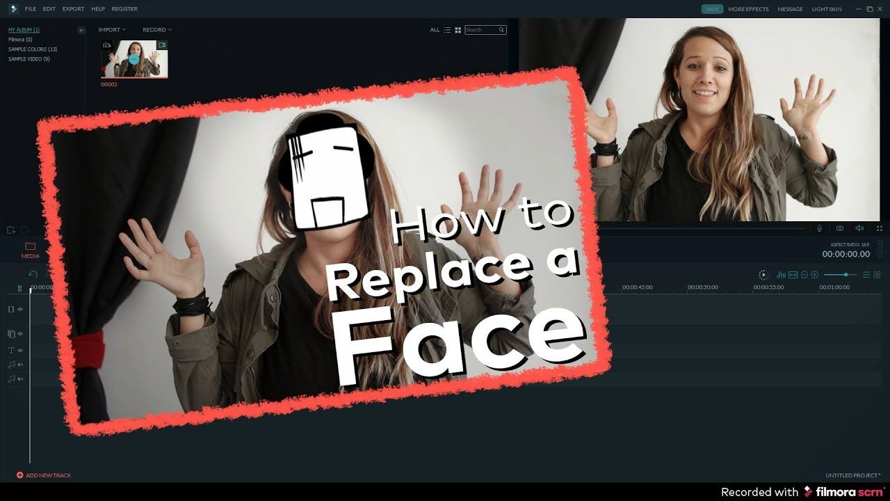 How to change face in video editing