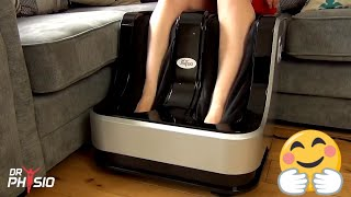 Dr Physio Foot Leg and Calf Shiatsu Massager with heat and vibration- How to use and Review