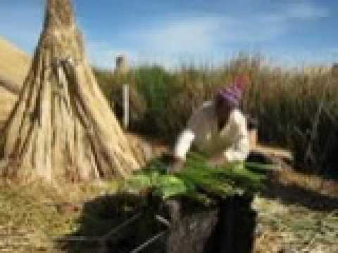 PERU: Lake Titicaca Village Life - How to build island? (BIM)