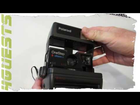 Polaroid OneStep 600 Camera Test with empty Film Cartridge Battery