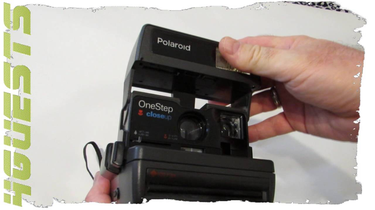 polaroid onestep 600 camera test with empty film cartridge battery rh youtube com polaroid onestep close up 600 film manual polaroid onestep close up 600 film manual