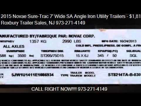 2015 Novae Sure-Trac 7' Wide SA Angle Iron Utility Trailers