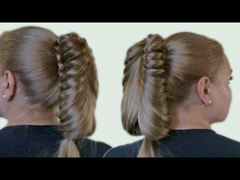 Beautiful Hairstyle with a Ponytail for Long Hair| Video Tutorial 2014| Creative Hairstyle