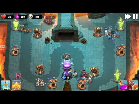 Castle Creeps TD - Chapter 5 Level 19-Throneroom 3 Stars
