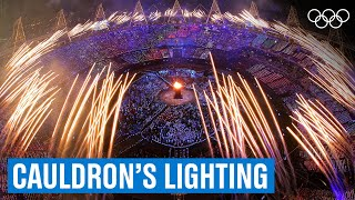 Lighting the cauldron 🔥at the London 2012 Opening Ceremony!