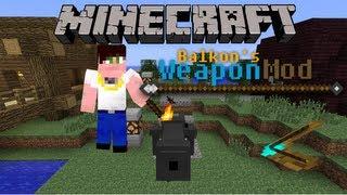 Minecraft 1.5.2 Mody - Balkon's WeaponMod (Topory bojowe, sztylety, armaty, kusze...)