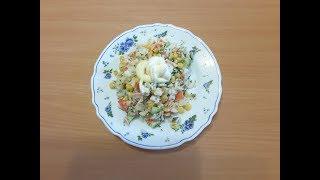 Салат из крабового мяса. Очень вкусный рецепт!