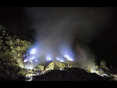 Spectacular Burning Sulphur Mine,  Kawah Ijen -  Indonesia